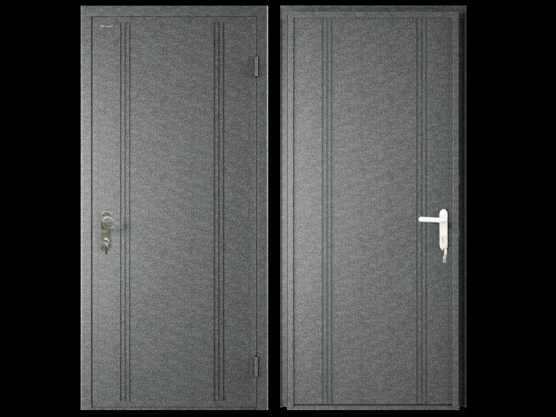 vchodové dveře DoorHan ECO 980x2050, antigue stříbro