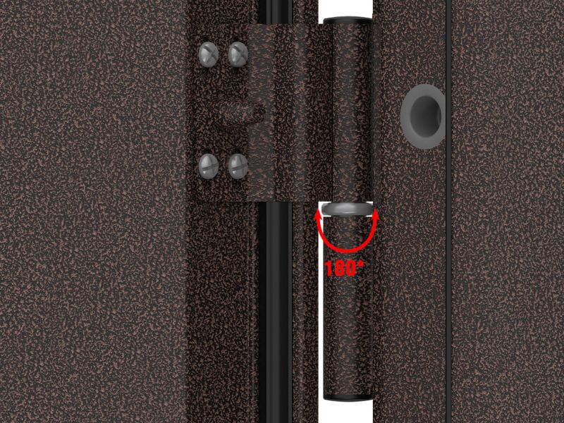 vchodové dveře DoorHan ECO 980x2050, antigue měď